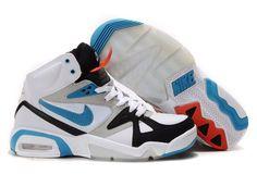 jyTkAjL Nike Air Max Hoop Structure 91 Shoes Mens White/Black/Blue High Canada Sale