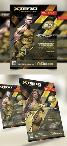 Fitness and Gymnastic Sports Flyer Flyers, Fitness and Sports - fitness flyer