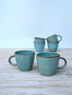 espresso mug turquoise mug ceramic mug handmade by FreshPottery