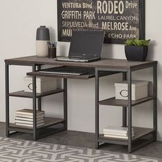 Home Office Furniture Layout Diy Desk Ideas Office Furniture Design, Furniture Layout, Furniture Decor, Modern Furniture, Nice Furniture, Furniture Vintage, Furniture Outlet, Metal Furniture, Bedroom Furniture