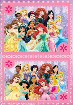Disney Princesses - Redesign VS Old Design. A better look at the change.