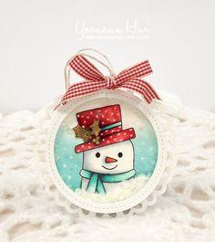 RejoicingCrafts: Snowman shaker tag. #HeroArts, Snow Much Joy Stamp Set