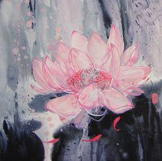 "Artist Yulia Luchkina; Painting, ""I remember"""