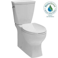 """30"""" deep, 17"""" wide $239 Riosa 2-piece 1.28 GPF Elongated Toilet in White"""