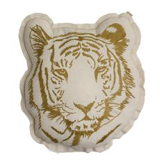 Add a safari vibe to any bedroom with this majestic tiger pillow - 10 Adorable Kids Cushions | Tinyme Blog