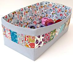 Liberty and linen storage basket