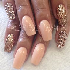 Peach and gemstones - Cut down on some of the gems !!!