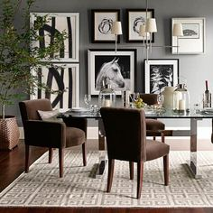 Greek Key Kilim Rug #williamssonoma--like the picture display for the dining room