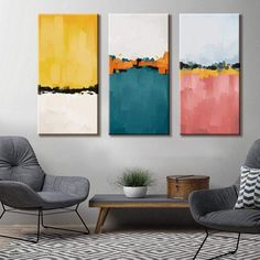 Abstract Canvas Art, Oil Painting Abstract, Abstract Painting Techniques, Geometric Shapes Art, Hallway Art, Simple Acrylic Paintings, Shape Art, Canvas Designs, Painting Inspiration