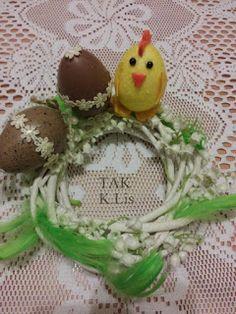 Twórczo Aktywnie Kreatywnie K.Lis: Wielkanocny stroik z kurczaczkiem