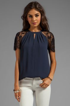 Alice by Temperley Regalia Top in Midnight - I would love to find a knock-off of this $355 top!