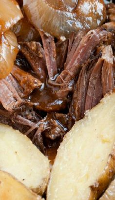 Balsamic and Onion Pot Roast in a Crockpot