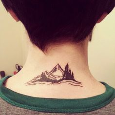 looks like i got another tattoo... #mountaintattoo #tattoo #neck