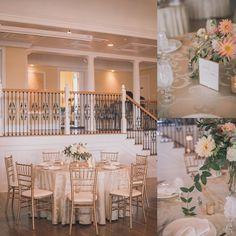 Elegant Pastel Peach Wedding Reception Table Settings | Sharon Elizabeth Photography