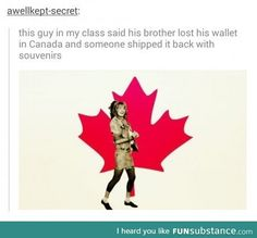 Hetalia ~~ Oh, Canada! I love you so much! I'm Canadian and I would probably do this, too.