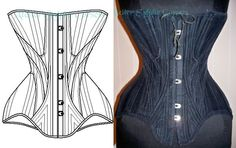 Ref N Paper pattern from real antique corset