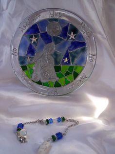 Moonstone & Moon Gazing Hare Pendulum by Eliora , $40.00