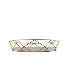 Metal Decorative Serving Trays - Octagon Mirrored Vanity Tray | eFavorMart Mirror Vanity Tray, Mirrored Vanity, Octagon Mirror, Colored Glass, Serving Tray Decor, Tray Styling, Buy Crystals, Metal Trays, Glass Tray