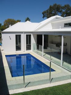 Nice Simple Pool- right off back porch; length of porch!