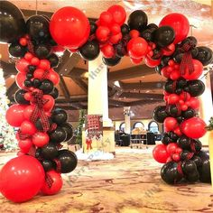 Black And Gold Balloons, White Balloons, Red Balloon, Balloon Arch, Balloon Garland, Balloon Pump, Marble Balloons, 60th Birthday Party Decorations, Balloon Decorations Party