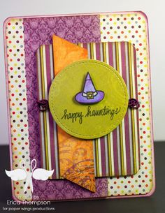 erica rose creates Halloween cards created for the September blog hop using Halloween stamps from Paper Wings Productions