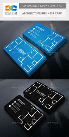 Architecture Business Card — PSD Template #simple #workman • Download ➝ https://graphicriver.net/item/architecture-business-card/161729?ref=pxcr