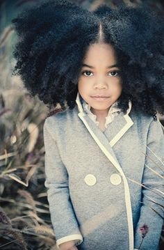 Dope pic, beautiful little girl and an awesome afro. Pelo Natural, Natural Hair Care, Natural Hair Styles, Natural Beauty, Au Natural, Natural Curls, Pure Beauty, Black Is Beautiful, Gorgeous Hair