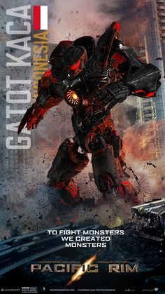 If Indonesia has its own jaeger in the pac rim movie #jaeger #indonesia #gatotkaca #idea