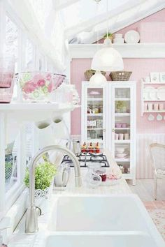 Home Furnishings: DIY Shabby #Kitchen Ideas...And Inspiration!