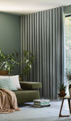 Translucent Curtains Living Room Accentuate your windows with translucent curtains without sacrificing light and style. Translucent curtains also bring stunning decorative flair to any space. Wave Curtains, Green Curtains, Curtains With Blinds, Ceiling Curtains, Curtain Rails, Wood Blinds, Door Curtains, Curtain Styles, Curtain Designs