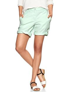 Boyfriend roll-up shorts Product Image