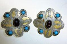 Antike Turkmenische Feuervergoldete Knöpfe mit von neemaheTribal