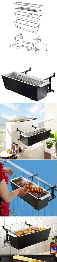 BBQ Bruce Handrail Grill >DIY #grill #garden #home