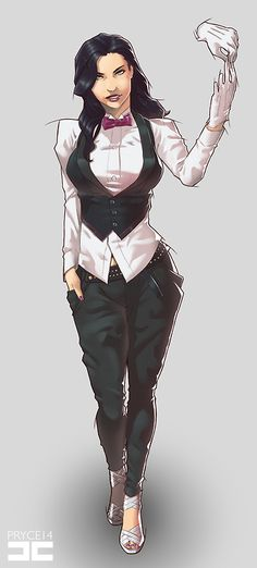 Zatanna by Pryce14. It's a good look without the fishnets.