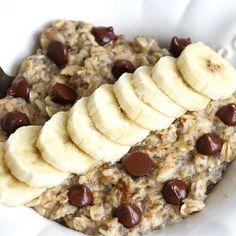 Chunky Monkey Morning Oats - She Well // Vegan
