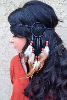 Hair Jewelry Jewelry & Accessories Disciplined Bohemian Handmade Ethnic Tribal Gypsy Beads Headdress Headband Rope Wood Beads Feather Hairband Hair Clip Women Indian Jewelry A Great Variety Of Goods