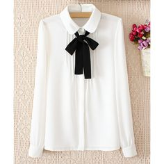 Solid Color Pleated Long Sleeve Slimming Chiffon Women's Blouse (49 BRL) ❤ liked on Polyvore featuring tops, blouses, chiffon top, slimming tops, white long sleeve blouse, long sleeve tops and slimming blouses
