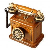 Telefone Retrô Classic Royal em Madeira - 35.313