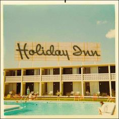 1960s found photo of a Holiday Inn