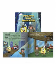 Wie is niet gek op de gele spons uit het diepe? Jij als detective gaat na waar de gestolen spullen van Spongebob zijn gebleven. Kan jij Spongebob helpen?  #SpongebobSquarepants #boeken #lezen #Personalgifts #personaliseren