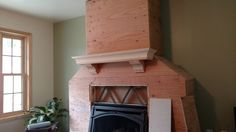 This is a mantle we built. The chimney structure is to be covered with stone. Mantle, Stone, Building, Projects, Home Decor, Log Projects, Rock, Blue Prints, Decoration Home