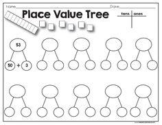 {Free} Place Value Count, Cut and Paste activity for first