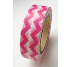 Japanese Washi Masking Tape - Deep Pink Zig Zag - 10m (11 Yards). $3.80, via Etsy.