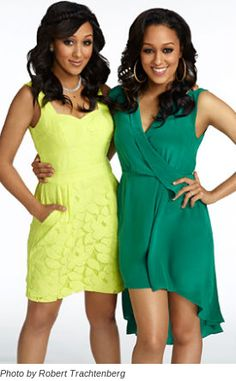 """Tia and Tamera Remember these ladies? Well, besides starring on """"Sister, Sister"""" in the 90′s, they have come full circle with their wardrobe. They are showing off their new Spring promo looks for Season 2 of """"Tia and Tamera,"""" premiering in June. This season, the reality show chronicles everything from Tamera's new marriage to Tia's career as a now working mother. Spring has sprung for sure!"""
