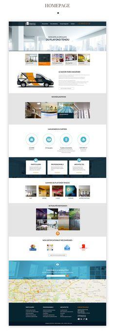 Plafond Tendu Haguenier - webdesign on Behance