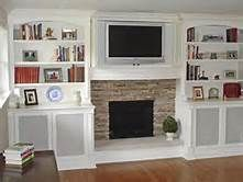 Bookcase Built In Bookshelves Around Fireplace - Bing Images