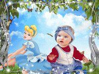 Montaje de imágenes o plantilla Princesa anuncio de varios