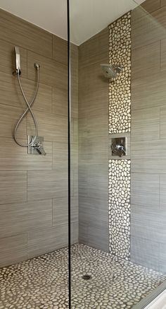 frei begehbare Dusche ohne Duschtür The Most Useful Bathroom Shower Ideas There are almost un Bathroom Interior, Modern Bathroom, Master Bathroom, Small Bathrooms, Master Shower, Stone Bathroom, Luxury Bathrooms, Dream Bathrooms, Tile Bathrooms