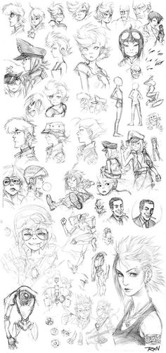 Fourth sketch dump from 2010 featuring some more character designs from my Next-Gen comic book series and some other random stuff. I was really into Gorillaz at that time and it shows... I think --...