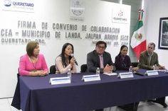 Querétaro, Qro. Recientemente la presidente municipal, Dionicia Loredo Suárez participó en la firma de convenio con la Comisión Estatal de...
